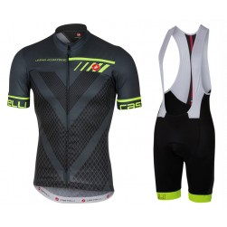 2017 Casteli Velocissimo Black Cycling Jersey And Bib Shorts Set