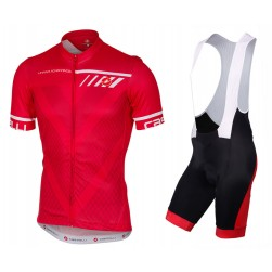 2017 Casteli Velocissimo Red Cycling Jersey And Bib Shorts Set