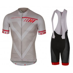 2017 Casteli Velocissimo Grey Cycling Jersey And Bib Shorts Set