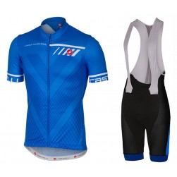 2017 Casteli Velocissimo Blue Cycling Jersey And Bib Shorts Set