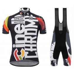 2017 Cinelli Chrome Training Black Cycling Jersey And Bib Shorts Set