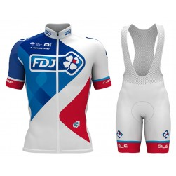 2017 Team FDJ Cycling Jersey And Bib Shorts Set