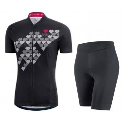 2017 Gore Element Digi Women's Black Cycling Jersey And Bib Shorts Set