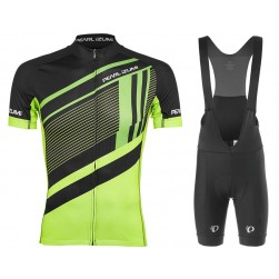 2017 Pearl Izumi Elite Escape LTD Black-Yellow Cycling Jersey And Bib Shorts Set