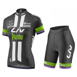 2017 Liv Race Pro Team Women's Black-Green Cycling Jersey And Bib Shorts Set