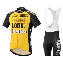 2017 Lotto NL-Jumbo Yellow Cycling Jersey And Bib Shorts Set