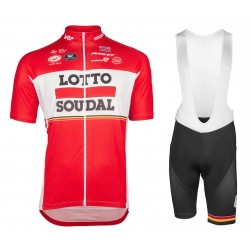 2017 Lotto-Soudal Red Cycling Jersey And Bib Shorts Set