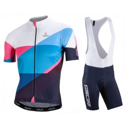 2017 Nalini PRO Campione White-Blue Cycling Jersey And Bib Shorts Set