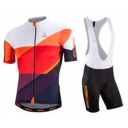 2017 Nalini PRO Campione White-Orange Cycling Jersey And Bib Shorts Set