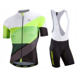 2017 Nalini PRO Campione White-Green Cycling Jersey And Bib Shorts Set