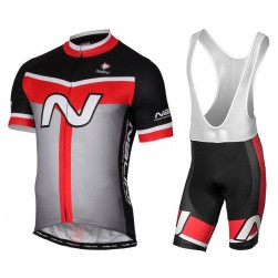2017 Nalini PRO Navision Black-Red Cycling Jersey And Bib Shorts Set