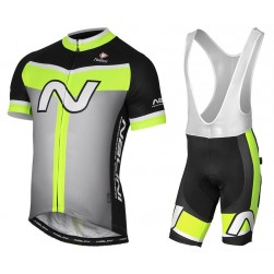 2017 Nalini PRO Navision Black-Green Cycling Jersey And Bib Shorts Set