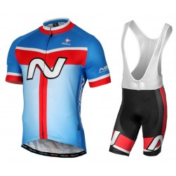 2017 Nalini PRO Navision Blue-Red Cycling Jersey And Bib Shorts Set