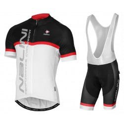 2017 Nalini PRO Brivio Black-White Cycling Jersey And Bib Shorts Set