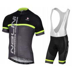 2017 Nalini PRO Brivio Black-Grey Cycling Jersey And Bib Shorts Set