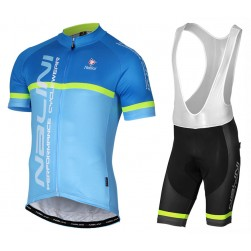 2017 Nalini PRO Brivio Blue Cycling Jersey And Bib Shorts Set