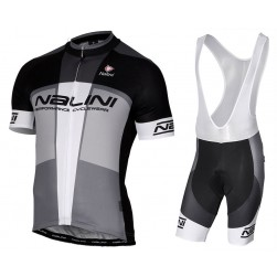 2017 Nalini PRO Artico Black-Grey Cycling Jersey And Bib Shorts Set