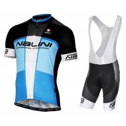 2017 Nalini PRO Artico Black-Blue Cycling Jersey And Bib Shorts Set