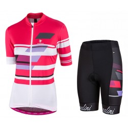 2017 Nalini PRO Dolimiti Women's Pink Cycling Jersey And Shorts Set