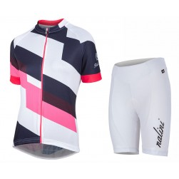 2017 Nalini PRO Stripe Women's Colors Cycling Jersey And Shorts Set