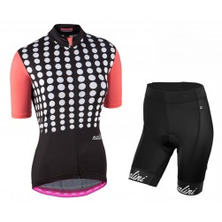 2017 Nalini PRO Optical Women's Black Cycling Jersey And Shorts Set