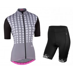 2017 Nalini PRO Optical Women's Grey Cycling Jersey And Shorts Set