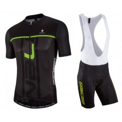 2017 Nalini PRO Speed Black-Green Cycling Jersey And Bib Shorts Set