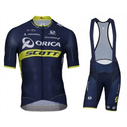 2017 Team Orica Scott Cycling Jersey And Bib Shorts Set