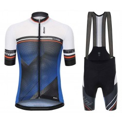 2017 Santini Tono Blue Cycling Jersey And Bib Shorts Set