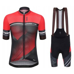 2017 Santini Tono Red Cycling Jersey And Bib Shorts Set