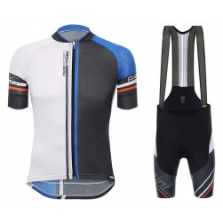 2017 Santini Airform 2.0 Black-Blue Cycling Jersey And Bib Shorts Set