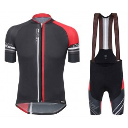 2017 Santini Airform 2.0 Black-Red Cycling Jersey And Bib Shorts Set