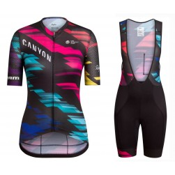 2016 Team Canyon Colorful Women Cycling Jersey And Bib Shorts Set