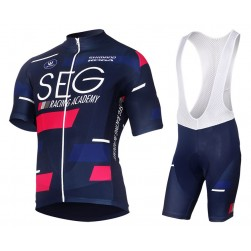 2017 SEG Racing Academy Blue Cycling Jersey And Bib Shorts Set