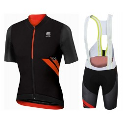 2017 Sportful R&D Ultraskin Black Cycling Jersey And Bib Shorts Set