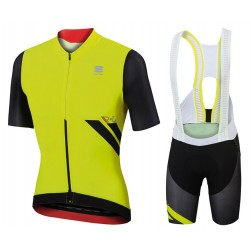 2017 Sportful R&D Ultraskin Yellow Cycling Jersey And Bib Shorts Set