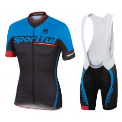 2017 Sportful SC Team Dark-Blue Cycling Jersey And Bib Shorts Set