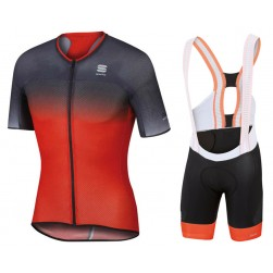 2017 Sportful R&D Ultraskin Grey-Red Cycling Jersey And Bib Shorts Set