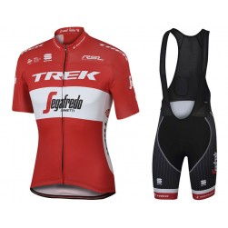 2017 Trek Segafredo Austrian Champion Cycling Jersey And Bib Shorts Set