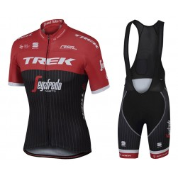 2017 Trek Pro Race Red Cycling Jersey And Bib Shorts Set