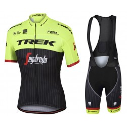 2017 Trek Pro Race Yellow Cycling Jersey And Bib Shorts Set
