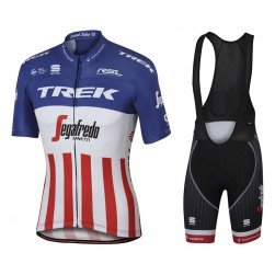 2017 Trek Segafredo US Champion Cycling Jersey And Bib Shorts Set