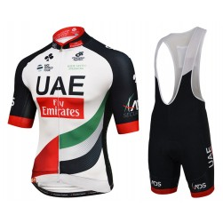 2017 UAE Fly Emirates Cycling Jersey And Bib Shorts Set