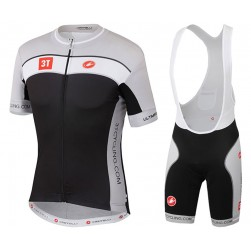 2017 Cаstelli 3T Black-Grey Cycling Jersey And Bib Shorts Set