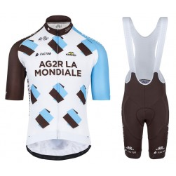 2017 Team Ag2r Cycling Jersey And Bib Shorts Set