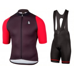 2017 Etxeondo NEO Black-Red Cycling Jersey And Bib Shorts Set