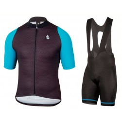2017 Etxeondo NEO Black-Blue Cycling Jersey And Bib Shorts Set