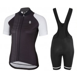 2017 Etxeondo Nero Black-White Cycling Jersey And Bib Shorts Set