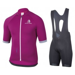 2017 Etxeondo Entzun Purple Cycling Jersey And Bib Shorts Set