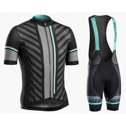 2016 Bontrager Ballista Black-Green Cycling Jersey And Bib Shorts Set
